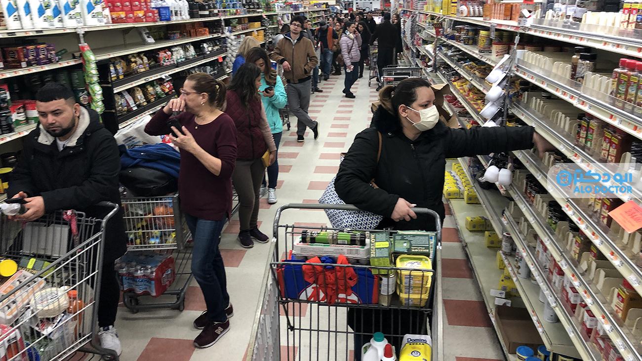 خطر ابتلا به ویروس کرونا هنگام خرید