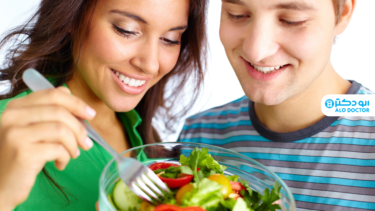 ارتباط بین مصرف میوه و سبزی با میزان استرس